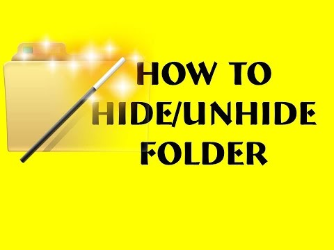 How to Hide Folder Data security