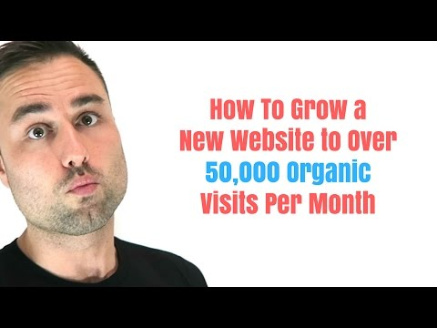 How To Grow a New Website to Over 50,000 Organic Visits Per Month