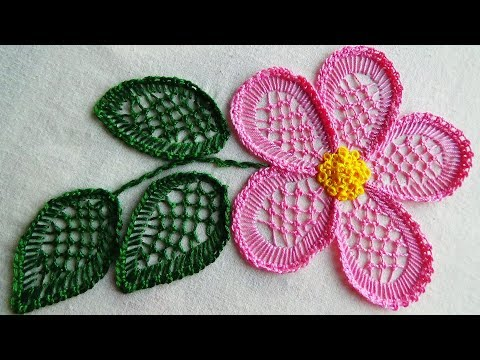 Hand Embroidery: Blanket Stitch Flower Embroidery