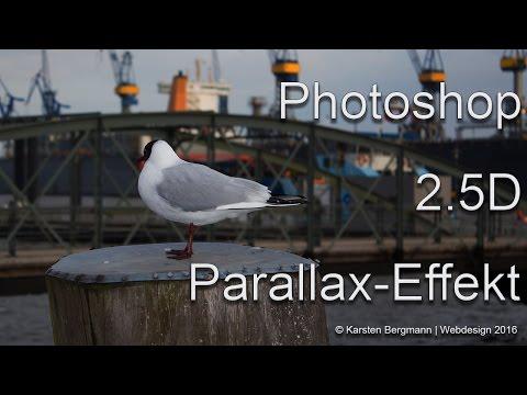 Super 2.5D Parallax Photo-Effekt in Photoshop Tutorial Deutsch