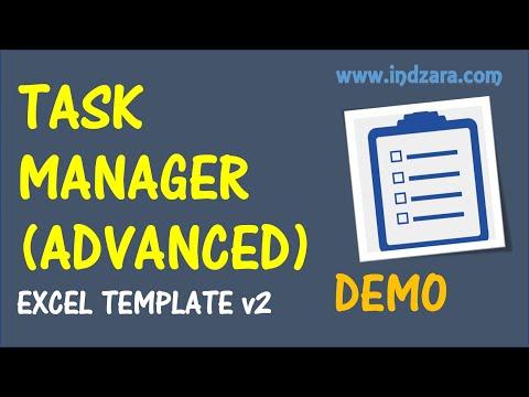 Task Manager (Advanced) Excel Template - v2 - Demo