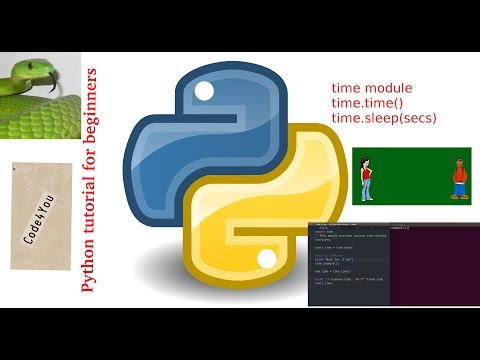 time module in Python ||time.time || time.sleep()||Python Tutorial #19 ||tutorial for beginners