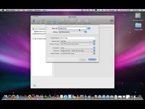 How to make a dmg file on a mac.