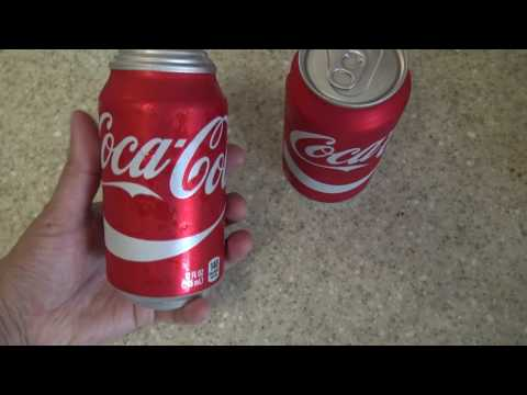 What happened to this Coke soda can?