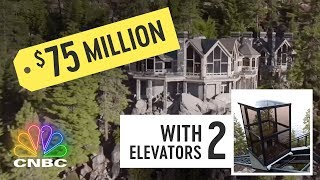 This Is The Most Expensive Mansion On Lake Tahoe | Secret Lives Of The Super Rich | CNBC Prime