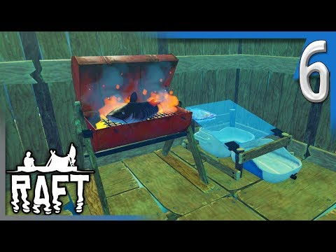 ADVANCEMENTS, UPGRADES, AND CATFISH! | RAFT Survival Game Gameplay/Let's Play E6