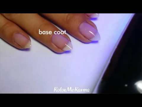 Mirror Chrome nails with regular gel topcoat