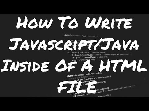 How to Write JavaScript inside of an HTML File
