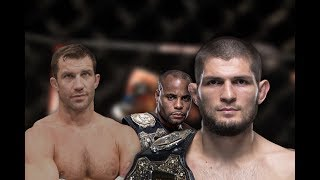 khabib and daniel cormier being best teammates while luke rockhold's awkwardness greatens