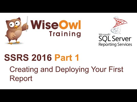 SSRS 2016 Part 1 - Creating and Deploying Your First Report