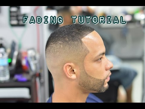 Mens Haircut fade! Barber Clipper Cutting Techniques with Hair Color