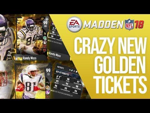 Crazy New Golden Tickets In Madden 18 - RANDY MOSS