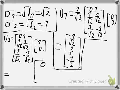 Least square approximation SVD Example 3
