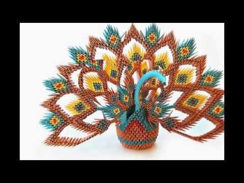 How to make 3d Origami Peacock? - Hướng dẫn xếp con công origami 3d đẹp
