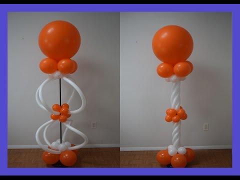 How to make Balloon spiral twist columns How to make pattern balloon column series Part 4
