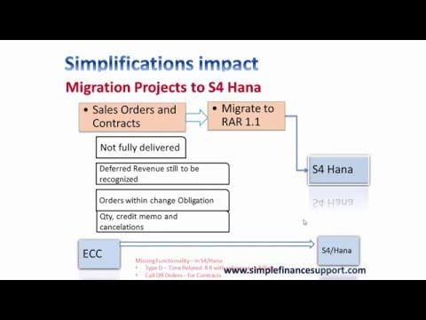 S4 Hana   Simplificaiton Revenue Reconnition