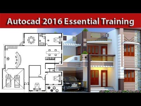 AutoCAD Complete 2d and 3d House Plan Part 1