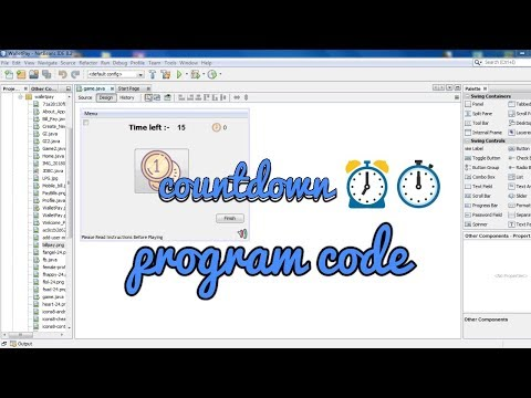 Java NetBeans IDE program timer , countdown coding