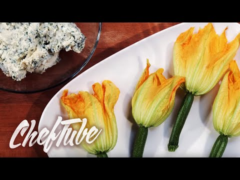 How to make Stuffed Zucchini (Courgette) Flowers