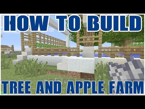 How to build : Tree + Apple Farm : Minecraft