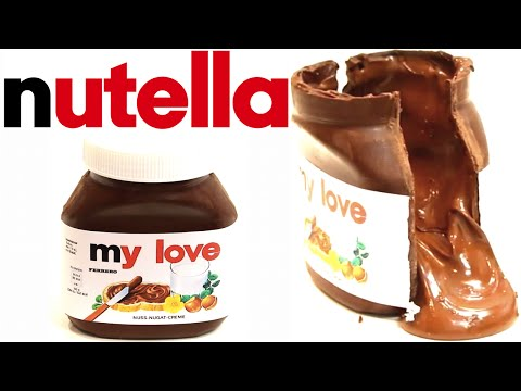 how to make a CHOCOLATE NUTELLA JAR FILLED WITH NUTELLA! | Its A Piece Of Cake