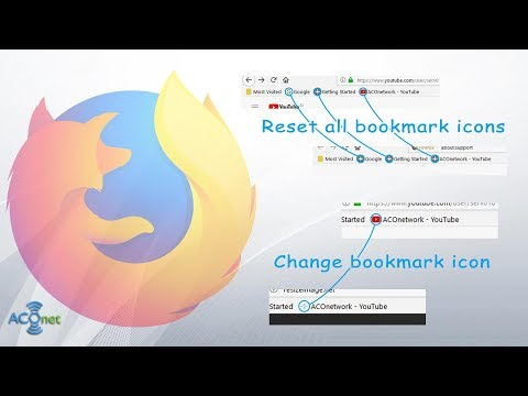 Reset or change individual bookmark icons in Mozilla Firefox