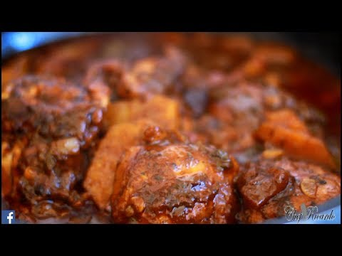 Part 2 Of The Jamaican Brown Stew Chicken....Simple Recipes At Home | Recipes By Chef Ricardo
