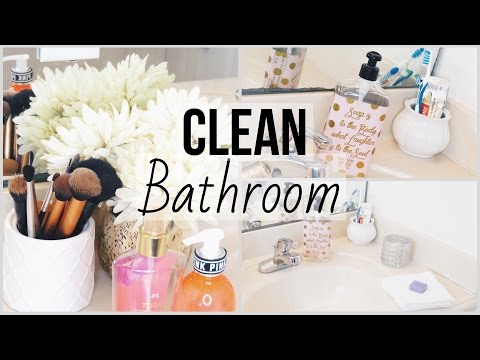 How To: Clean/Organize Your Bathroom! ♡ SPRING CLEANING ♡