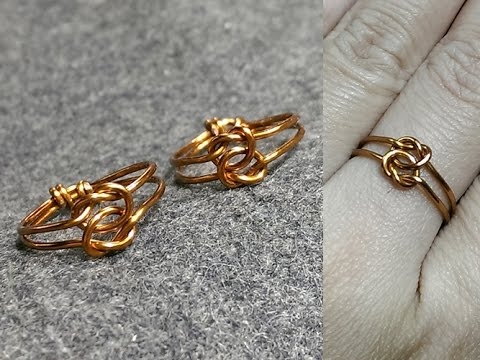 copper Knot ring - How to make wire jewelry 158