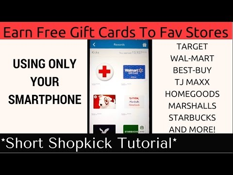 How To Use Shopkick App Earn Free Gift Cards To Fav Stores