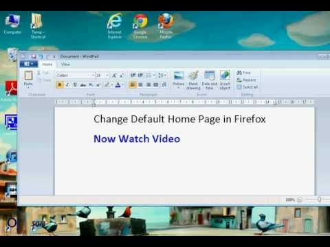 Firefox Change Default Home Page (Simple)