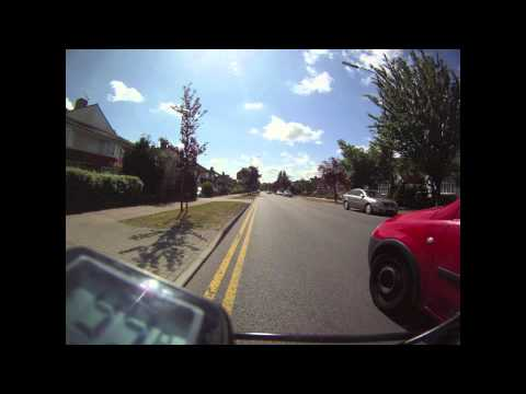 Cycling time lapse video test with Gopro HD camera 2 sec intervals.