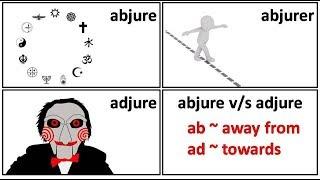 19.1 abjure abjurer adjure adjurer adjured meaning in Hindi by Puneet Biseria