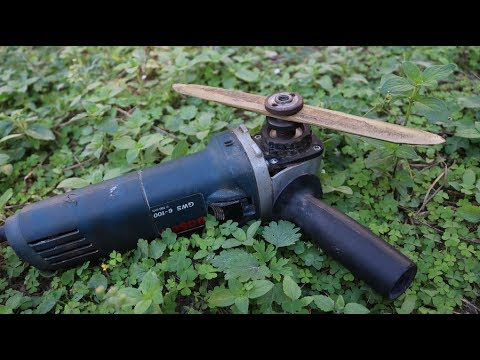 Awesome grass cutter from an angle grinder.How to make