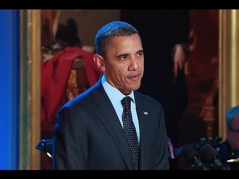 President Obama Welcomes Guests to