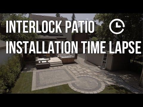 Interlock Patio Installation Timelapse