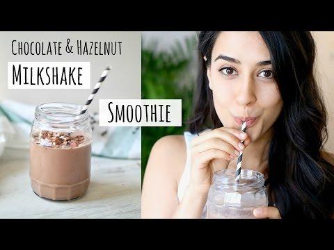 CHOCOLATE & HAZELNUT MILKSHAKE SMOOTHIE » healthy + vegan