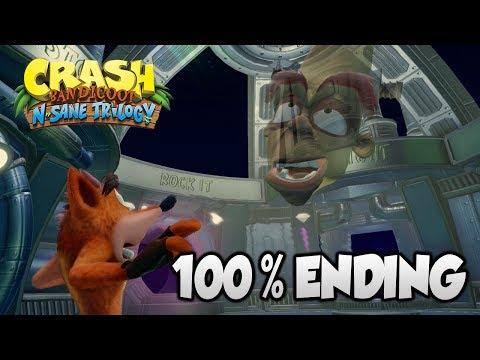 Crash Bandicoot 2 - 100% Alternate Ending Cutscene (PS4 N Sane Trilogy)