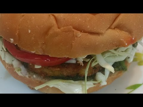 Veg And Low Fat Burger Recipe || Restaurant Style Burger || Tea Time Recipe || Sanobar's Kitchen