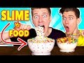 Making FOOD Out Of SLIME Learn How To Make DIY Slime Food Vs Real Edible Candy Food Challenge