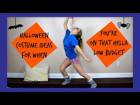 HALLOWEEN COSTUME IDEAS FOR YOUR LOW BUDGET