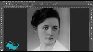 How to remove photo paper texture from the old photo in Photoshop