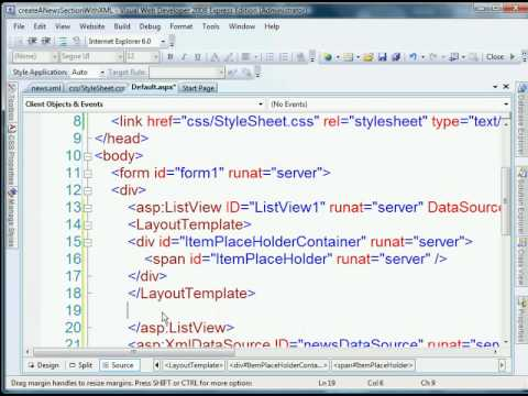 Create An Updatable News Section With ASP.NET and XML