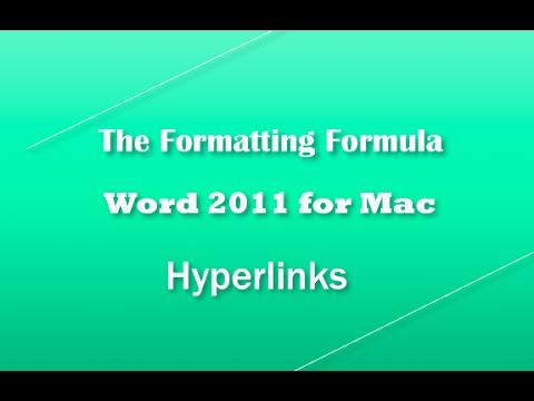 Word 2011 for MAC   Hyperlinks