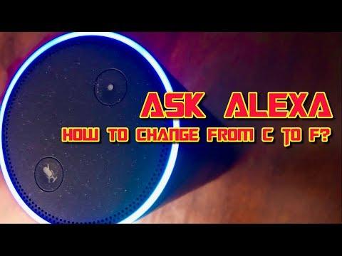 How to Change Alexa from Farenheit to Celcius - Alexa Skills