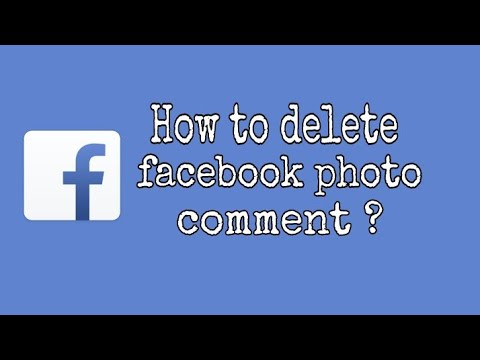 How to delete Facebook photo comment ?