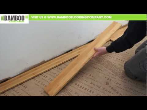 How to Install Bamboo Flooring (Tongue & Groove - Over Underlay)