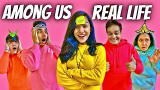PLAYING AMONG US IN REAL LIFE WITH MY FAMILY | Rimorav Vlogs