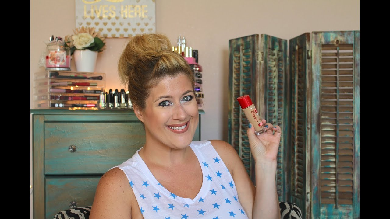 Rimmel Lasting Finish Foundation Review & Demo - Collab with War Paint with Tara