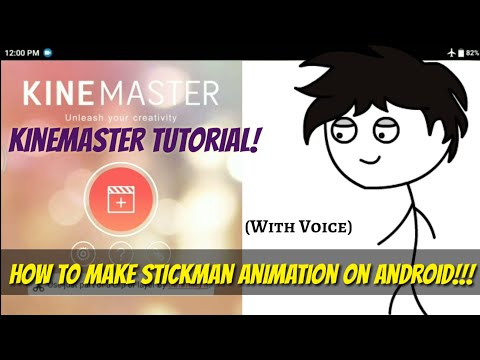 How To Make Stickman Animation On Android #WithVoice || KINEMASTER TUTORIAL ||